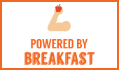 Breakfast poster: Powered By Breakfast version 1