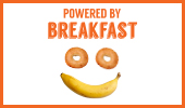 Breakfast poster: Powered By Breakfast version 3