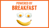 Breakfast poster: Powered By Breakfast version 2