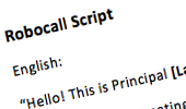 How To: RoboCall Script